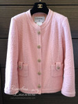CHANEL 2016 16C Paris-Seoul Classic Tweed Jacket Pearl Buttons 36 FR Pink