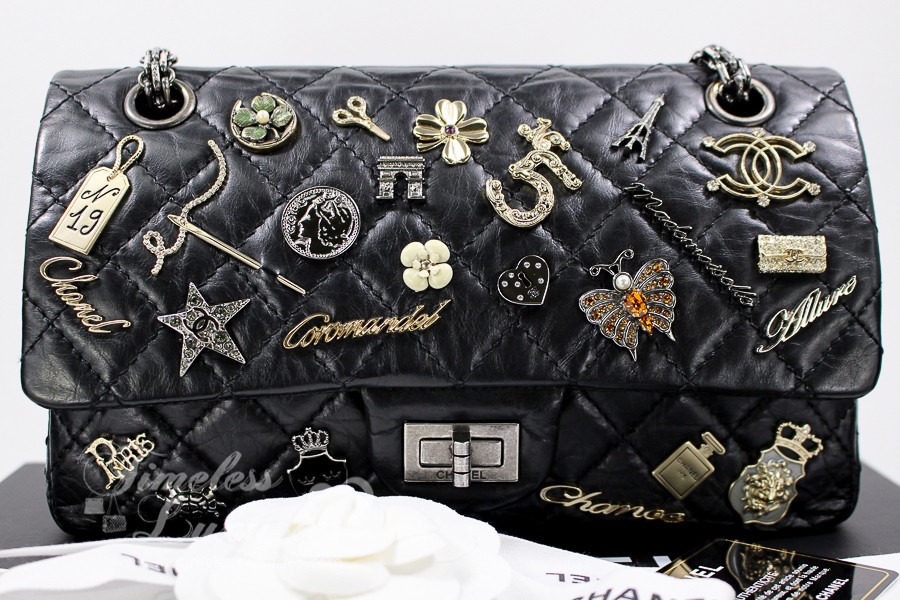 c7ba968fadbc63 CHANEL Lucky Charms 2.55 Reissue 225 Flap Bag Ruthenium Hw #16885920 -  Timeless Luxuries