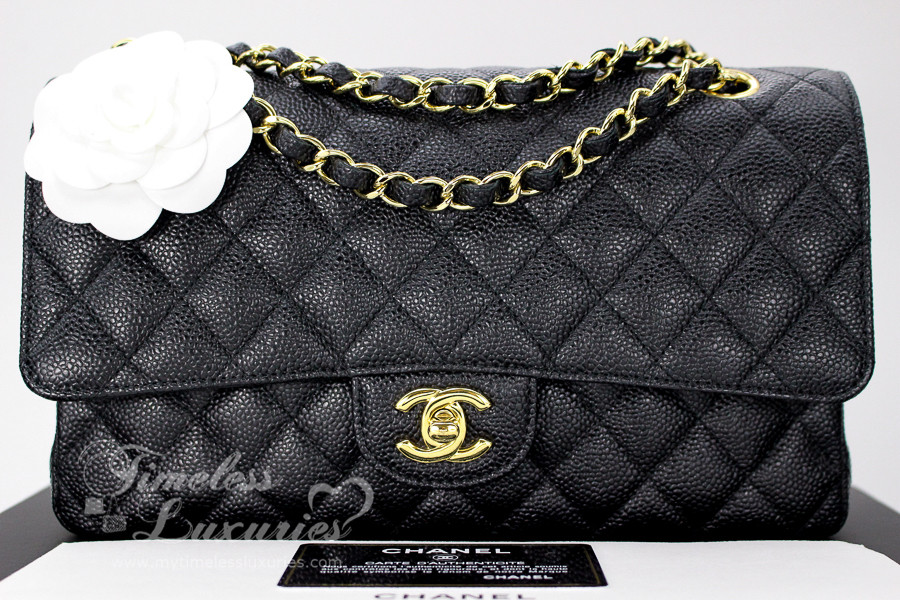 1160be5b8982 CHANEL Black Caviar Classic Double Flap Bag Gold Hw #18418602 - Timeless  Luxuries