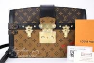LOUIS VUITTON Trunk Clutch Bag Monogram/ Monogram Reverse #FL1168*New
