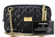 CHANEL Black Aged Calf 2.55 Reissue Camera Case Bag Gold Hw #12295970