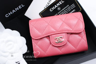CHANEL 18S Pearly Pink Caviar XL Card Holder Back Pocket #25xxxxxx *New