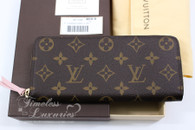 LOUIS VUITTON Monogram Clemence Wallet Rose Ballerine #CA4185 *New