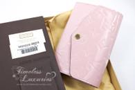 LOUIS VUITTON Rose Ballerine Sarah Compact Wallet #SN3155 *New