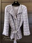 CHANEL 2018 18C Fantasy Tweed Belted Jacket 36 FR *New