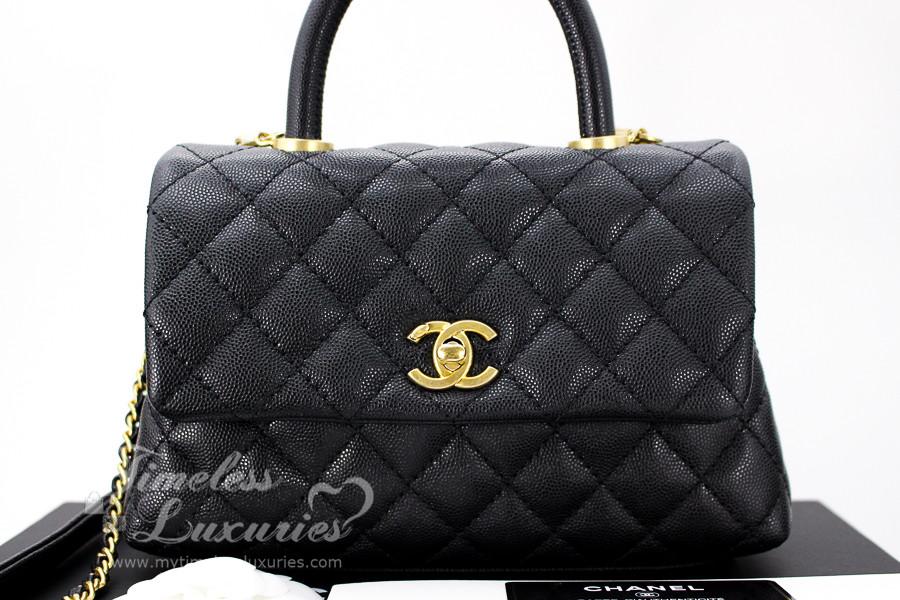 84cf95805d86 CHANEL Black Caviar Mini Coco Handle Flap Bag Gold Hw #25783482 *New -  Timeless Luxuries