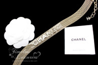 CHANEL Paris-Cosmopolite Light Gold Mesh Choker Necklace *New