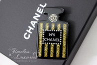 CHANEL No.5 Perfume Bottle Brooch w Pearls & Crystals Paris-Cosmopolite *New