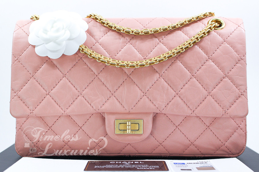 596656cd94ac21 CHANEL 18P Blush Pink Aged Calf 2.55 Reissue 226 Gold Hw #25393712 *New -  Timeless Luxuries