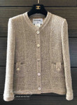 CHANEL 2016 16C Paris Seoul Pearly Tweed Classic Jacket 38 FR Beige