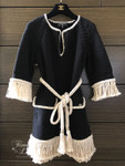 CHANEL 2018 18C Belted Tunic/ Mini Dress with Fringe 36 FR
