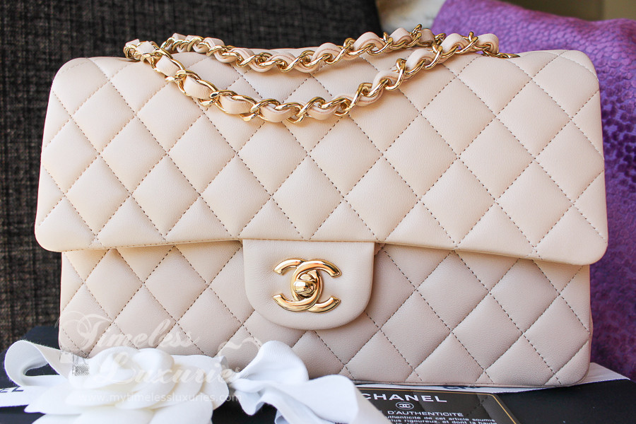 072e7e09437bd1 CHANEL Beige Clair Classic Double Flap Bag Gold Hw #16517430 *New -  Timeless Luxuries