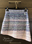 CHANEL 2018 18S Waterfall Fantasy Tweed Boucle Asymmetrical Skirt 36 *New