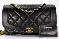 CHANEL Black Lambskin 'Vintage Chic' Diana Flap Bag Gold Hw #2852752