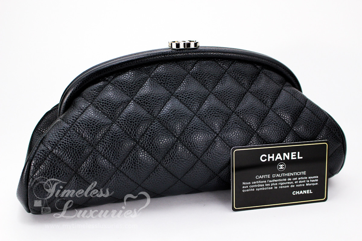 3430bbbf10ecfd CHANEL Black Caviar Timeless Clutch Bag Silver Hw #12179798 - Timeless  Luxuries
