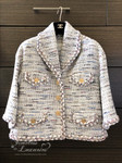 CHANEL 2018 Cruise 18C Runway Tweed Jacket Horse Buttons 34 FR