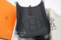 HERMES Mini Evelyne 16 TPM Black Epsom Palladium Hardware