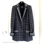 CHANEL 2017 17B Fantasy Tweed Blazer Jacket 36 FR Grey/ Black