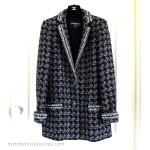 CHANEL 2017 17B Fantasy Tweed Blazer Jacket 36 FR Grey/ Black