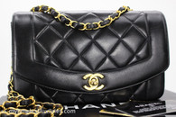 CHANEL Black Lambskin 'Vintage Chic' Diana Flap Bag Gold Hw #4538017