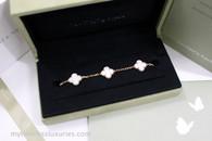 VAN CLEEF & ARPELS Vintage Alhambra 5 Motifs Bracelet White MOP YG