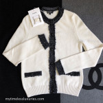 CHANEL 2018 18K Cashmere Silk Cardigan with Tweed Trim 34 FR *New