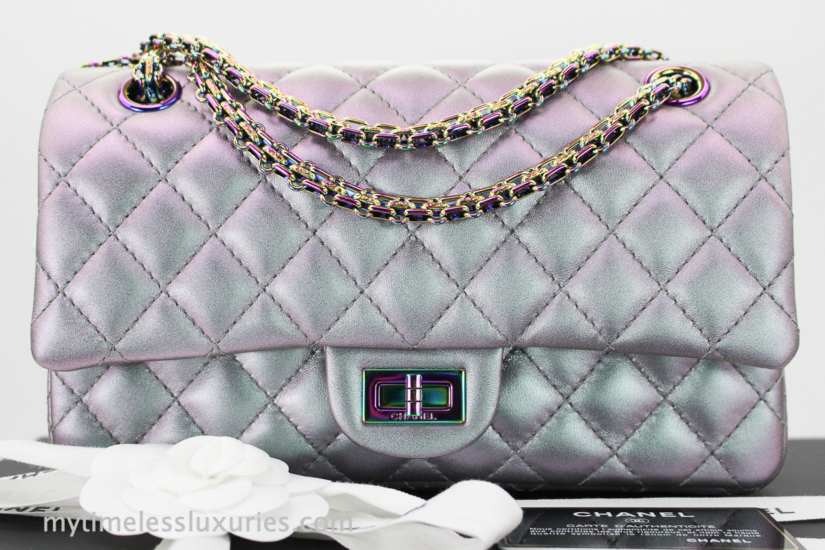 c81999eaa83790 CHANEL Purple Iridescent 2.55 Reissue 225 Rainbow Hw #24857403 *New -  Timeless Luxuries