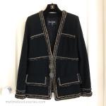 CHANEL 2017 17A Paris Cosmopolite Black/ Gold Tweed Jacket 38 FR *New