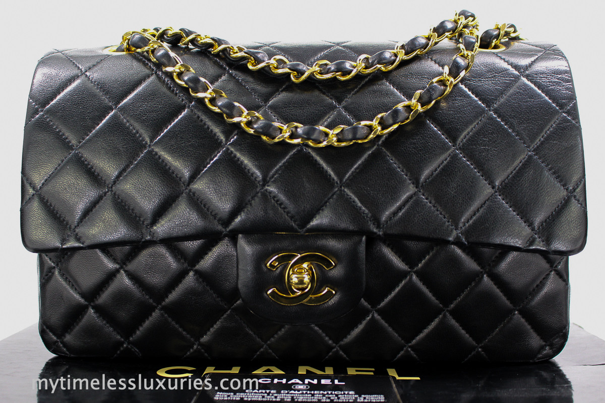 34ffd7db8bf6ba CHANEL Black Lambskin Classic Double Flap Bag Gold Hw #2017496 - Timeless  Luxuries