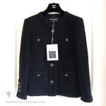 CHANEL 16A Paris Rome Fantasy Tweed Little Black Jacket 38 FR *New