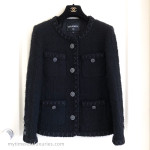 CHANEL 16A Paris Rome Fantasy Tweed Little Black Jacket 38 FR