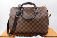 LOUIS VUITTON Speedy 30 Bandouliere Damier Ebene Canvas #MB4196