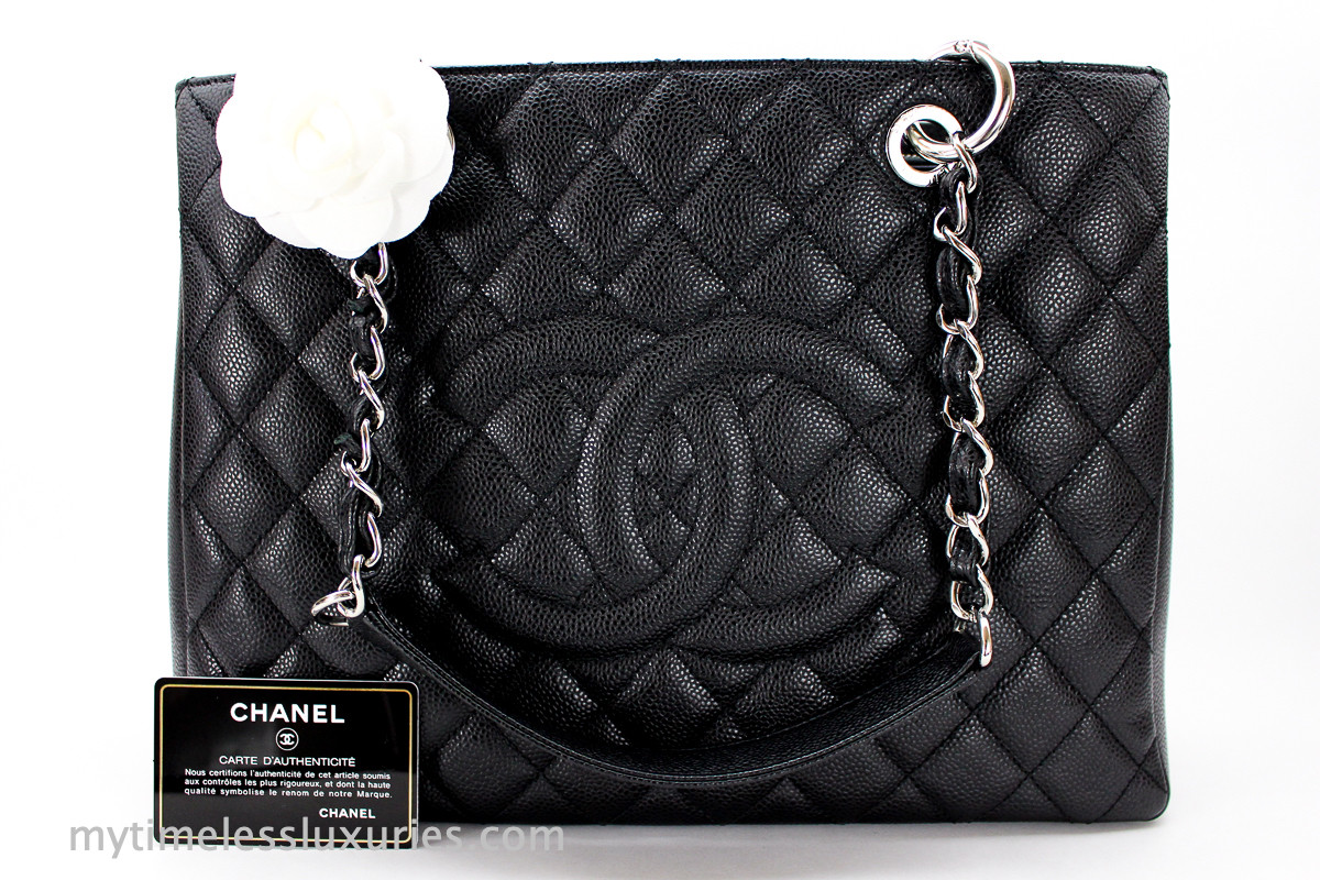 7a34462a3f4f CHANEL Black Caviar Grand Shopping Tote GST Silver Hw #19601665 - Timeless  Luxuries