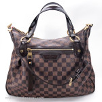 LOUIS VUITTON Evora MM Damier Canvas Ebene #DU2103