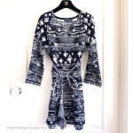 CHANEL 2018 18C Belted Tunic/ Mini Dress 38 FR Navy/ Ecru