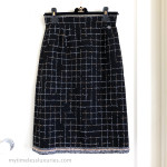 CHANEL 2017 17S Fantasy Tweed 'Robot' Pencil Skirt Braided Trim 36 FR
