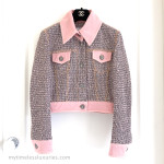 CHANEL 2018 18P Fantasy Tweed Denim Jacket Pink 34 FR