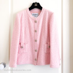 CHANEL 2016 16C Paris-Seoul Classic Tweed Jacket Pearl Buttons 40 FR Pink