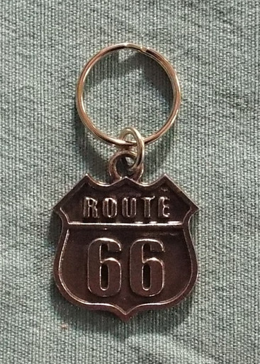 Route 66 Pewter Key Chain Made in the USA