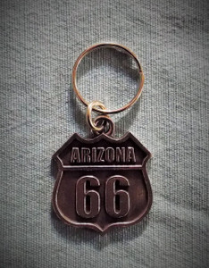 Arizona Route 66 Pewter Key Chain