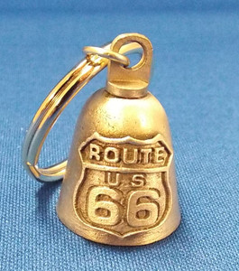 Route 66 Motorcycle Bell key chain