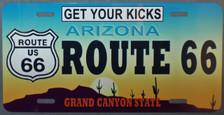 Arizona Route 66 License Plate
