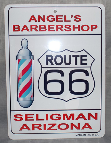 Angel's Route 66 Barber Shop Sign