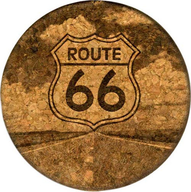 Route 66 The Road Cork Coaster