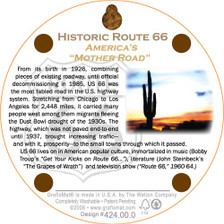 Back of Hot Rod Route 66 Coaster