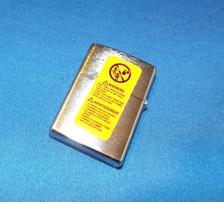 back of Route 66 Zippo Lighter