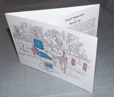 Angel's Barber Shop Collector's Card Trifold