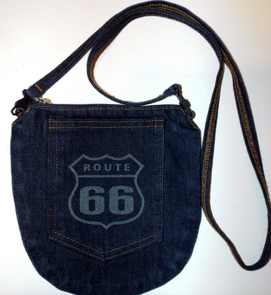 Denim Route 66 Purse
