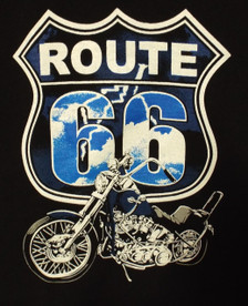 Route 66 Motorcycle Lightning Tee Design