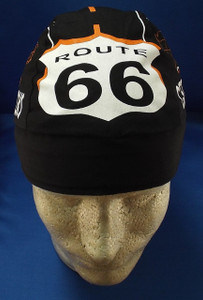 front of Route 66 Road Skull Cap